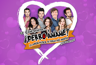 2x1 en Perro ÁMAME Comedia Musical Éxitos 80's/90's