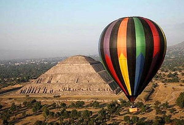 Vuelo en Globo sobre las Pirámides de Teotihuacán para 1 ó 2