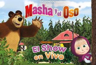 ¡ÚNICAS FECHAS! Masha y el Oso El Show en Vivo 29 y 30 Julio