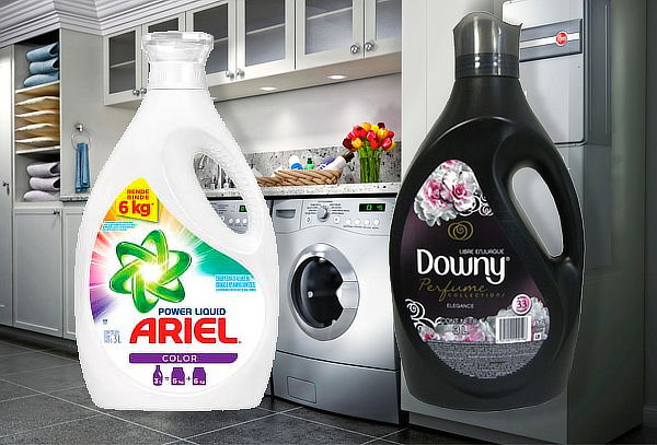 Ariel Power Liquid Color 3L + Downy Black Elegance 3L.