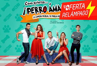 RELÁMPAGO Perro ÁMAME Comedia Musical Éxitos 80's y 90's