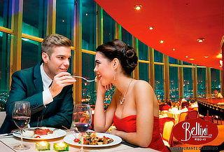 BELLINI: Cena Romántica 4 Tiempos para 2 + Botella de Vino