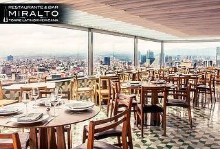 MIRALTO Torre Latinoamericana: Menú 3 Tiempos + Bebida