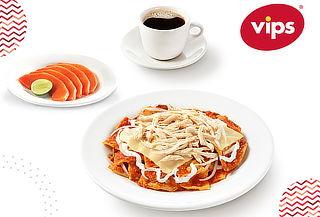 VIPS: Desayuno Completo con Chilaquiles con Pollo