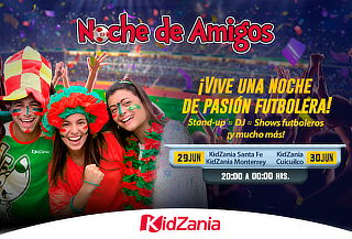 KidZania Noches de Amigos Fiesta Futbolera