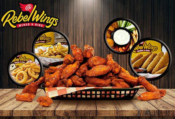 Rebel Wings Alitas Combo Pareja o Amigos, 17 Sucursales