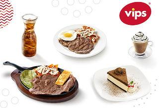 VIPS Bono consumo de $600 en menú carta abierta