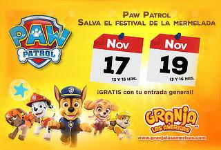Acceso a Granja las Américas: Incluye show Paw Patrol