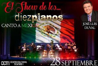 Concierto de los 10 Pianos ¡Canto a México! ÚNICA FECHA