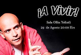 Odin Dupeyron en ¡A Vivir! Sala Ollin Yoliztli 29 de Agosto