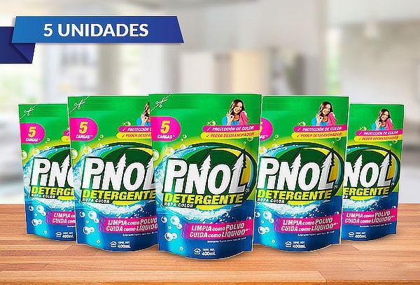 Pack de 5 Pinol Detergente Liquido Ropa Color