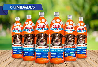 Pack de 5 Cloralex Mascotas 950 ML Tamaño Grande