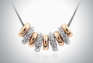 Cristal Elements Golden Circles: Collar con dijes de oro by Ocean Heart
