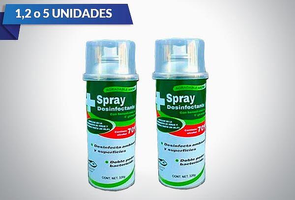 Spray Desinfectante Antibacterial a elegir 1,2 o 5 unidades