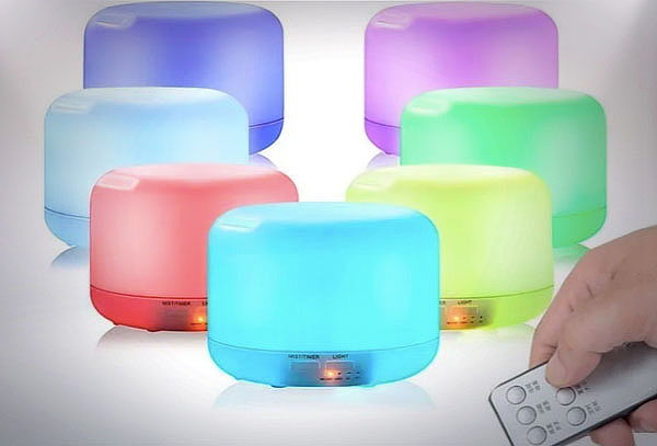 Difusor y Purificador de Ambiente con 7 Colores de Luz