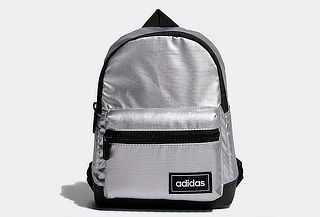 Mini mochila Adidas Classic color plata metalizada