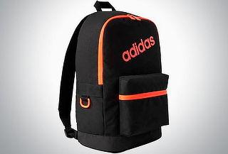 Mochila Adidas Bp Daily para Hombre negro con naranja