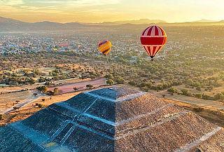 Vuelo en Globo + brindis en Teotihuacan