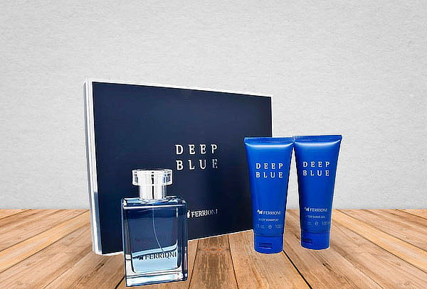 Set Ferrioni Deep Blue For Men ¡Incluye 3 pzas!