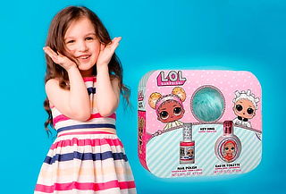 Set perfume LOL Surprise para niña + Esmalte + Llavero