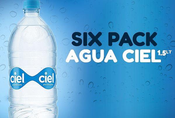 Pack de 6 Botellas de Agua Ciel de 1.5 Litros ¡A tu Casa!