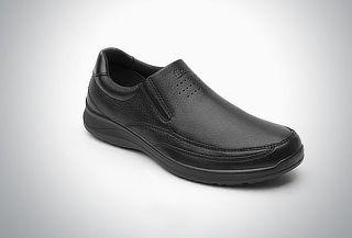Mocasín casual Flexi con elásticos laterales color Negro #27