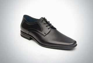 Zapato estilo Derby con puntera afilada color negro #27
