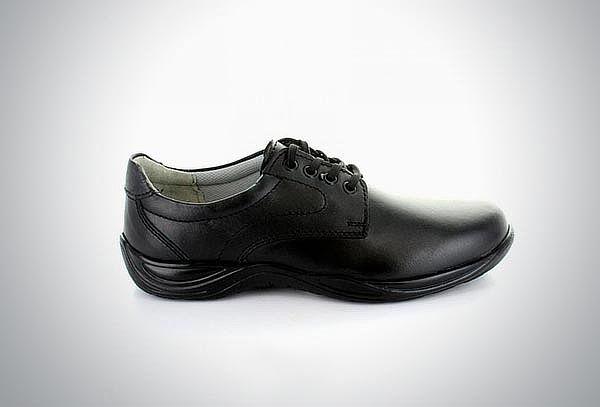 Zapato escolar de piel lisa negra #21.5