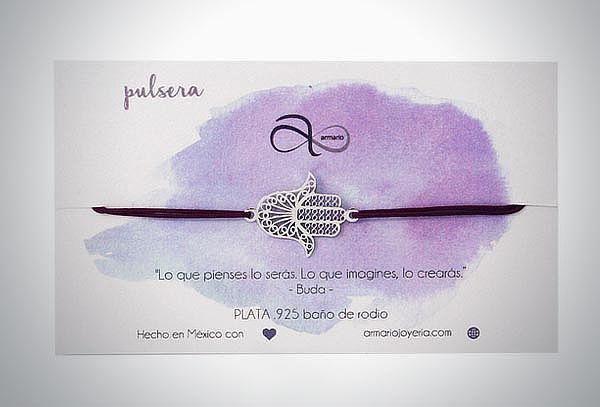 Pulsera Hamsa Cord de Plata