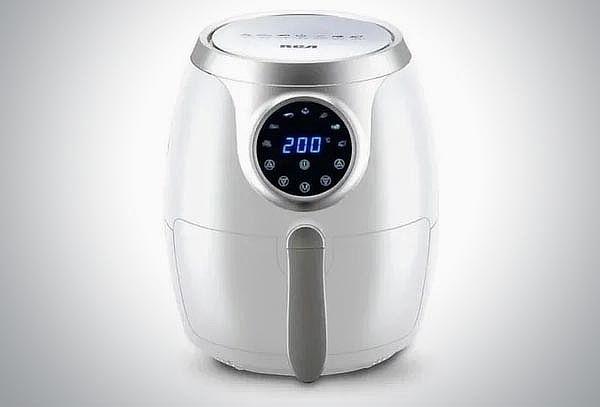 Freidora RCA blanca de Aire Digital ¡Cocina sin aceite!