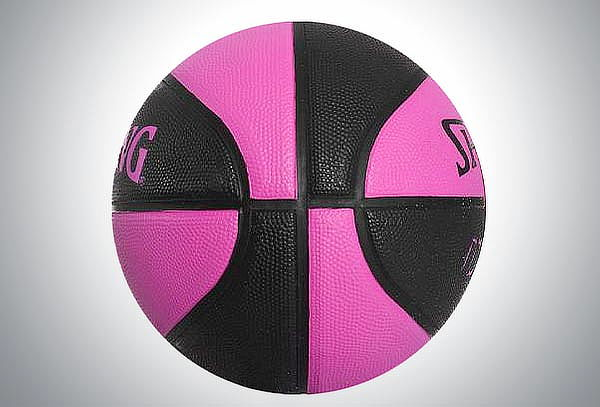 Balón Spalding Basquet 4her Rosa Negro #6