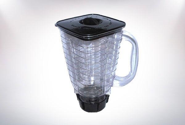 Vaso armado para licuadora con porta vaso y cuchillas
