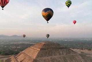 ¡Vuelo en Globo sobre Teotihuacan + Transporte Redondo!