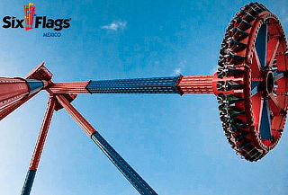 Boleto admisión general para Six Flags México