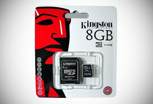 Memoria Micro SD de 8, 16, 32 o 64 GB + Adaptador Kingston