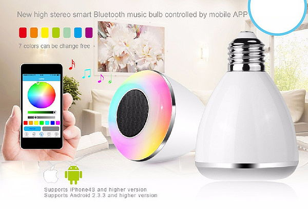 ¡Foco Parlante Bluetooth! Controlable desde tu Dispositivo