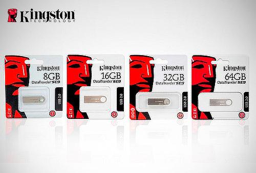 Memoria USB 2.0 Kingston de 8, 16, 32 o 64 GB
