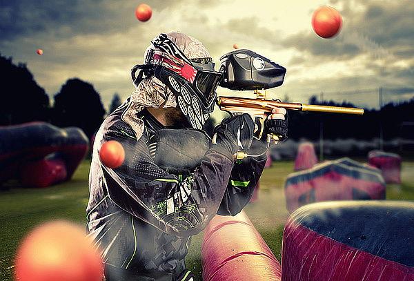 ¡Extremo! 01 Batalla de Paintball para 5 Personas