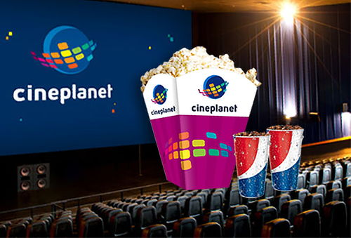 Cineplanet 2D ó 3D + Combo Gigante