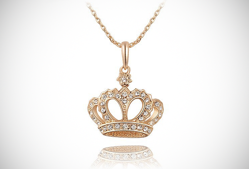¡Luce como una Reina! Collar + Dije de Coronita