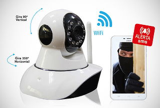 Cámara de Vigilancia Inalámbrica Altron + Sensor de Puerta