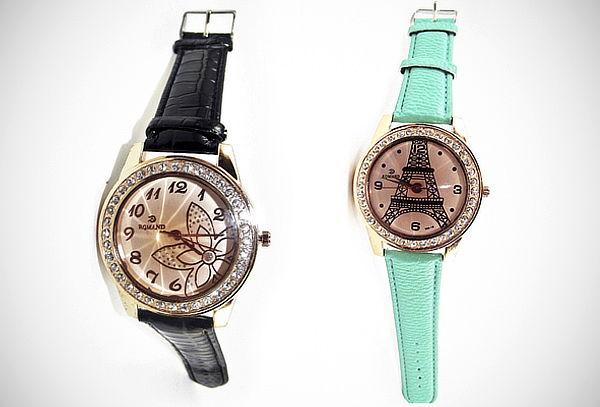Reloj Pulsera Decoración con Cristales - 50%