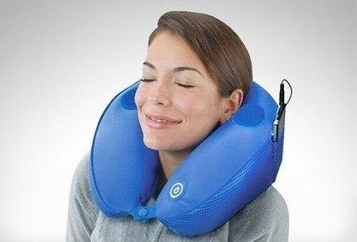Almohada de Cuello Masajeadora con Conector MP3