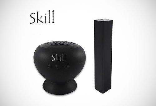 Kit Parlante Bluetooth + Batería Skill® Portátil Black USB