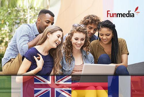 Curso Online de Inglés, Francés, Alemán o Italiano 90%