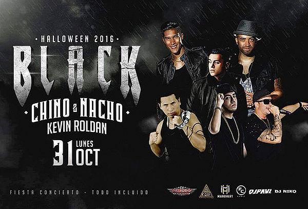 ¡No te lo Pierdas! Black Halloween con Chino y Nacho