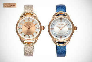 ¡Luce Elegante! Reloj VILAM® con Detalles en Pedrería 31%