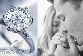 Sortija de Compromiso con Cristal Swarovski Certificado