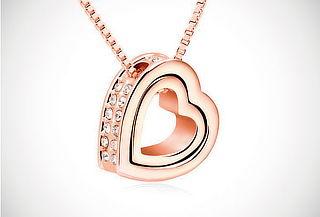 ¡El Regalo Perfecto! Cadena + Corazón Te Amo Swarovski