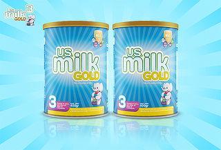 2 o 4 Latas: Fórmula en Polvo para Niños US Milk Gold 3